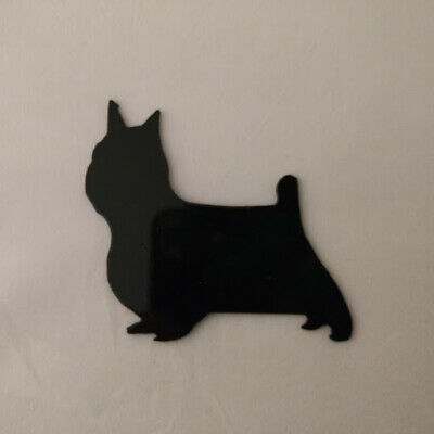 Silky Terrier Refrigerator magnet black silhouette Made in the USA