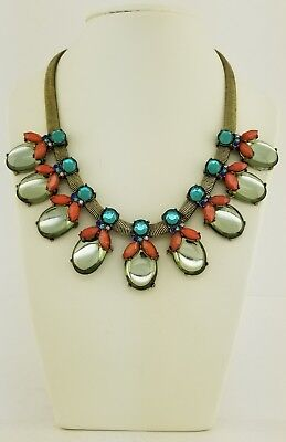 BAUBLEBAR STATEMENT NECKLACE Antiqued Brass and Moonstone