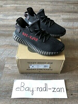 new styles 84f9e db37d ADIDAS YEEZY BOOST 350 V2 Bred Black Red Mens Size 8 New with Box Read  Descript