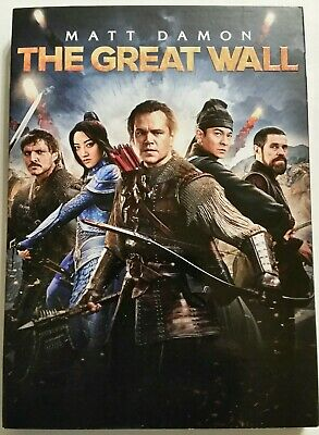 The GREAT WALL (DVD includes Slipcover, 2017) *Matt Damon* SHIPS FAST Mon-Sat!