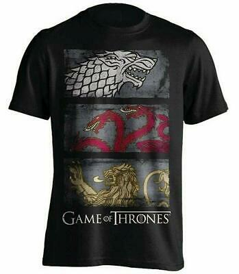 Game Of Thrones - 3 Sigil Row Distressed - Official Mens T Shirt