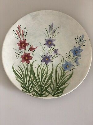 Vintage Radford Pottery Hand Painted Plate Flowers Floral Pattern