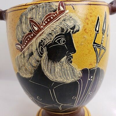 Zeus God Ancient Greek Rare Art Pottery Vase Amphora or Hydria