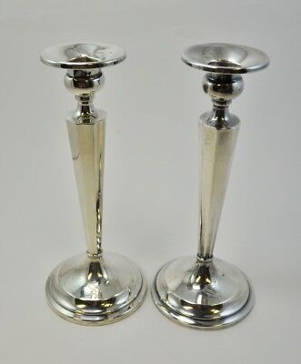 """Pair of J.E. Caldwell & Co. Candlesticks with """"S"""" Monogram (CAR-2)"""