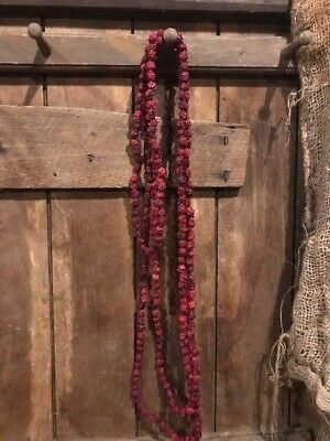 Primitive Dried Cranberry Garland 10 FEET  Early Look Christmas Homestead