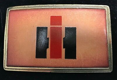 International Harvester Leather Belt Buckle Created for IH Exclusively 1978