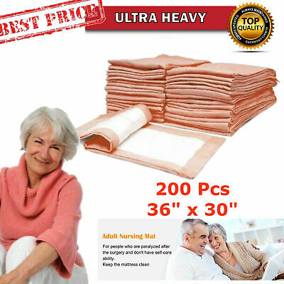 200 Ultra HEAVY  Adult Bed Pads Disposable Incontinence Pee Urinary Underpad 30x