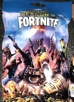 Fortnite Toy Figure Blind Bags Set Of 3. Each Contains 1 Trading Card