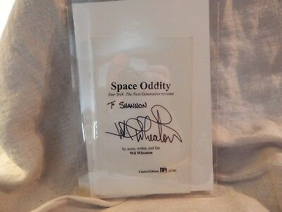 Space Oddity SIGNED Book by Wil Wheaton Star Trek TNG Limited Edition 1/200