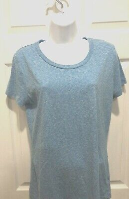 24db9920 MOSSIMO WOMEN'S SIZE Large Blue T-Shirt Casual Short Sleeve - $4.99 ...