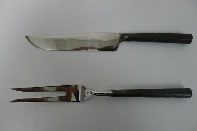 Vintage Rangthong Design Stainless Steel Carving Set