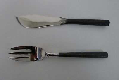 Vintage Rangthong Design Stainless Steel Flatware (Set of 2) Fish