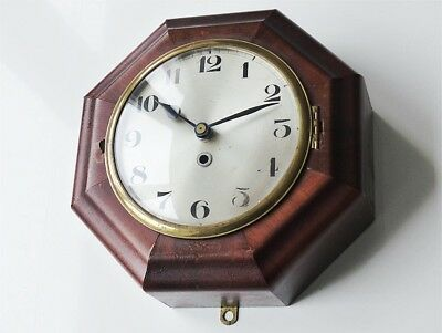 ~1920 Antique german JUNGHANS wall clock vintage old brass midcentury art deco