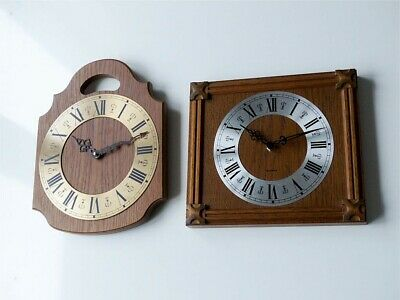 Old german HERMLE + SCHATZ Wall Clock old vintage antique wood kitchen large