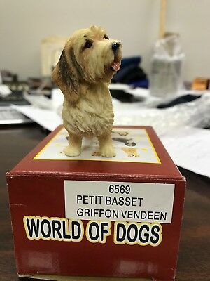 Petit Basset Griffon Vendeen - Hand Painted - Figurine New In Box - Breyer Like