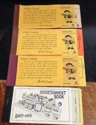 Vintage Knotts Berry Farm Ticket Books