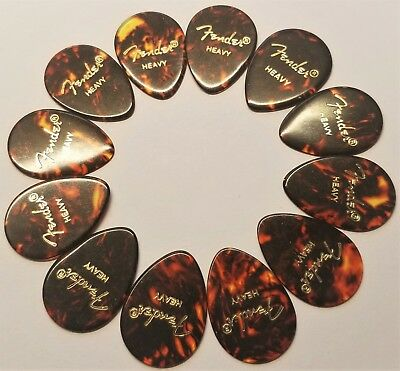 Fender 358 Classic Celluloid Guitar Picks. ( Heavy )