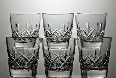 "Stuart Crystal""Glengarry"" Cut Flat 9 Oz Tumblers Set Of 6 - 3 1/2"" Tall"