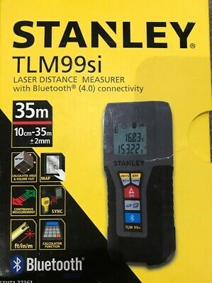 Stanley TLM99SI Laser Distance Measure 35m With Bluetooth