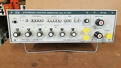 TOA FS-2201 Synthesized Function Generator