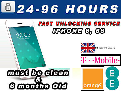 Unlock Service for Apple iPhone 6 6S UNLOCKING EE T-MOBILE ORANGE FAST SERVICE