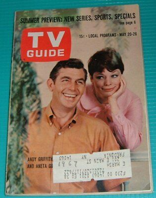 1961 TV GUIDE~RAWHIDE~ERIC Fleming~Clint Eastwood~Andy