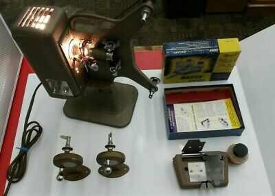 KEYSTONE BRIGHTBEAM K-70 VARI-SPEED 8mm MOVIE PROJECTOR & Craig Rewinder/Splicer