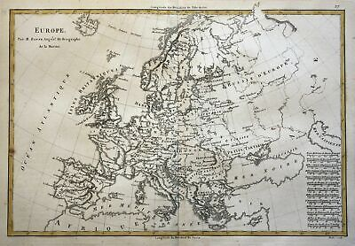 1780 Europe Europa Continent Kontinent Karte map Kupferstich copper engraving