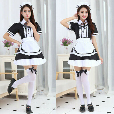 Sexy Japan Lolita Maid Uniform Dress Cosplay Costume Outfit Any Size Custom