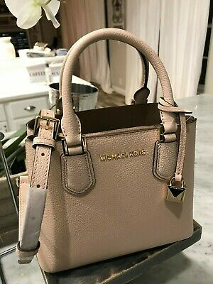 bf483d76ad3e9d ❤️Michael kors Adele Mercer Medium Messenger Bag / Tote Ballet Pebbled  Leather