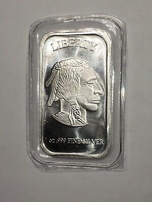 Old Liberty Buffalo Indian Head Art Bar .999 Fine Silver Bar 1oz (sealed)