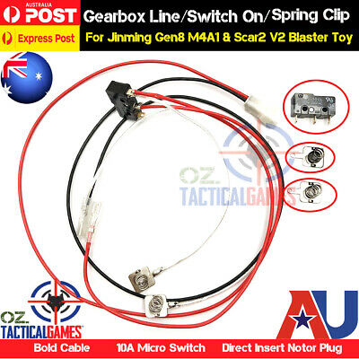 Cable Line Upgrade Gearbox Parts For Gel Balls Blaster JinMing Gen8 M4A1 SCAR V2