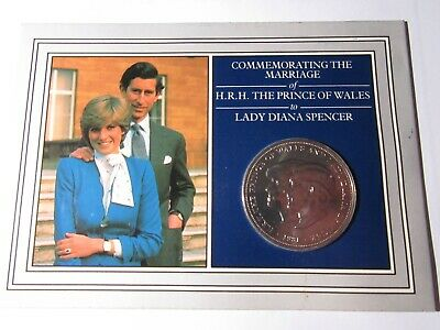 Uk  1981 Charles/diana  Carded Crown