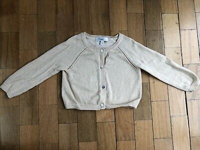 Bebe Gold Glitter Cardigan Size 1-2 (18 Months)