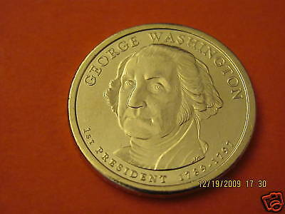 2007-D BU Mint State (George Washington) US Presidential One Dollar Coin