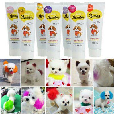 Pet Beauty Colour Dog Hair Coloring Dyeing Harmless Natural Dyeing Agent Safe US