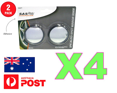 Blind Spot Mirror X 4 Glass Wide Angle 50Mm Convex Mirrors Rear View Blindspot