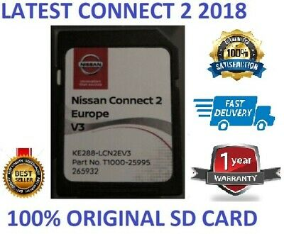 Genuine Nissan Connect 2  Latest V3 Sat Nav  Lcn2 Sd Card 2018 Maps ..