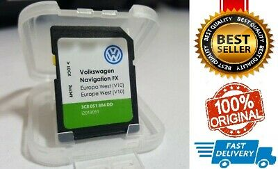 VW VOLKSWAGEN RNS310 SD Card V10 FX Sat Nav Map Navigation Update 2018 UK&EUROPE