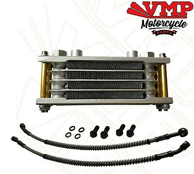 Universal Motorcycle Oil cooler Engine Cooling Radiator Alloy Gold
