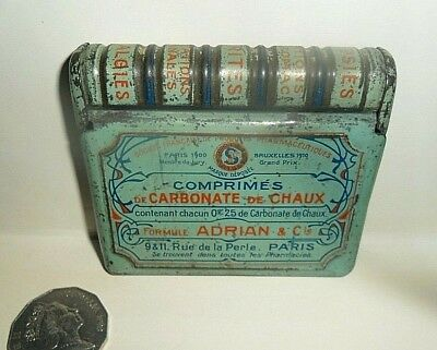 French Art Nouveau Chemist tin c1910-15 - Adrian & co PARIS 'Book tin' clean VGC
