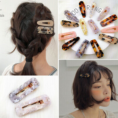 1PC Women Crystal Leopard Hair Clips Barrette Stick Hairpin Hair Accessories
