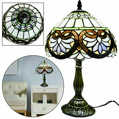 Tiffany Style Stained Glass Table Lamp Bedside Home Decor Lamp Light Living Room
