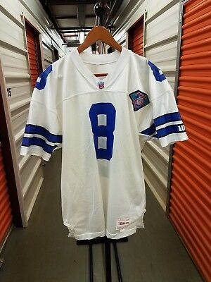 differently 602e0 04622 TROY AIKMAN 1994 Dallas Cowboys Throwback Jersey Size 48 Xl ...