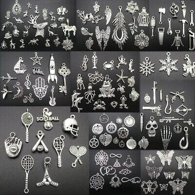 Lots Wholesale Tibetan Silver Retro Style Charms Pendant Fashion DIY Jewelry