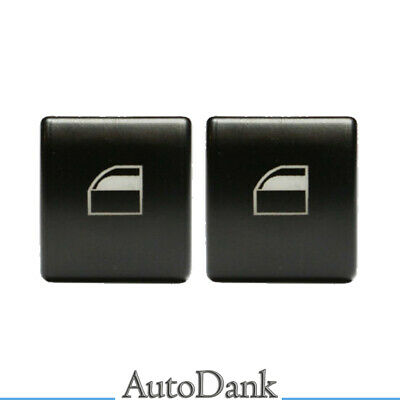 2x BMW E46 98-06 ELECTRIC WINDOW CONTROL POWER SWITCH PUSH BUTTON COVER