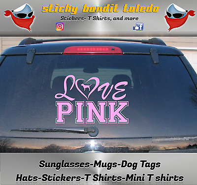 a7fcd987ad LOVE PINK VICTORIA Secret Vinyl Car Window Laptop Sticker Decal Many ...