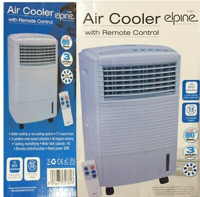 Elphine Air Cooler With Remote 3 Speed Cool Blow Water Level Indicator Evaporati