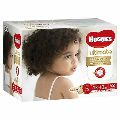 Huggies ULTIMATE Nappies Size 5 (13-18kg) Unisex 52 Pack