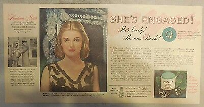 Pond's Ad: Barbara Sheets: She's Engaged, She's Lovely, She Uses Pond's 1940's
